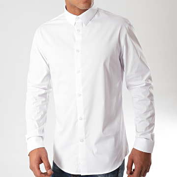 Celio - Chemise Manches Longues Masantal Blanc