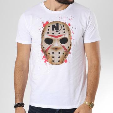 Dabs - Tee Shirt Mask Blanc