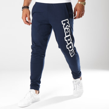 Kappa - Pantalon Jogging Logo Cristiano Bleu Marine Blanc