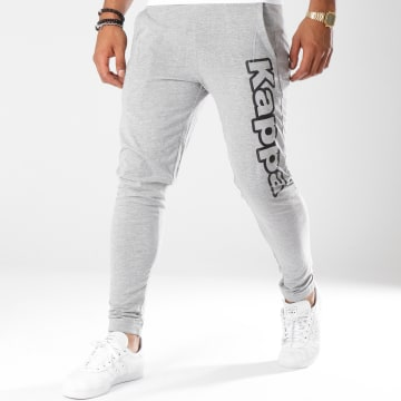 Kappa - Pantalon Jogging Logo Cristiano Gris Chiné