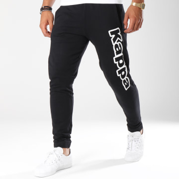 Kappa - Pantalon Jogging Logo Cristiano Noir Blanc