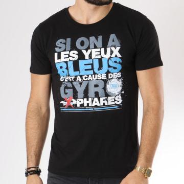 Neochrome - Tee Shirt Yeux Bleus Noir
