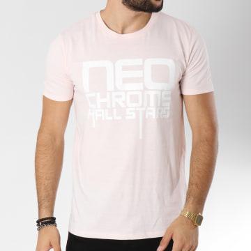 Neochrome - Tee Shirt Hall Stars Rose Pale