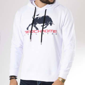 Neochrome - Sweat Capuche Bull Blanc