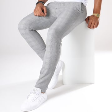 Mackten - Pantalon Super Slim Fit A Carreaux 28001 Gris