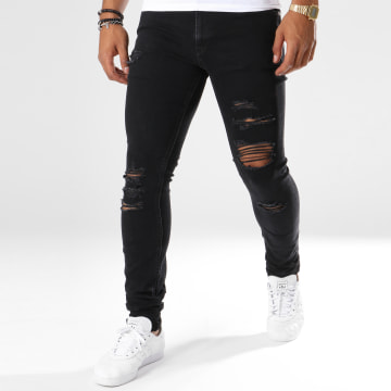 Jack And Jones - Jean Skinny Troué Liam Original Noir
