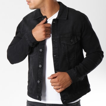 Only And Sons - Veste Jean Coin Noir