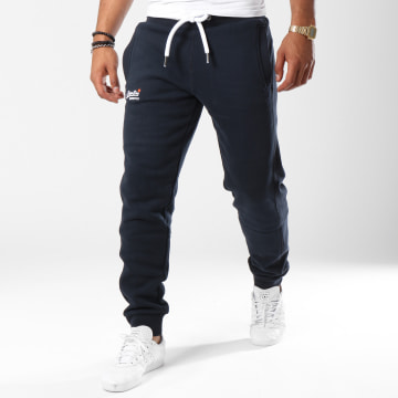 Superdry - Pantalon Jogging Orange Label Bleu Marine