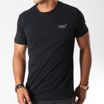 Superdry - Tee Shirt Orange Label Vintage Noir