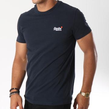Superdry - Tee Shirt Orange Label Vintage Bleu Marine