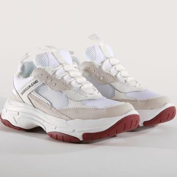 Calvin Klein - Baskets Marvin Mesh Lycra Suede S1770 White