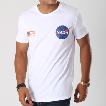 NASA - Tee Shirt Badge Blanc