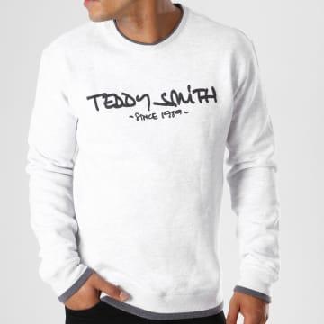 Teddy Smith - Sweat Crewneck Siclass Gris Chiné