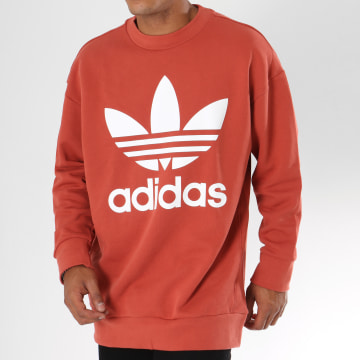 Adidas Originals - Sweat Crewneck Oversize Trefoil DH5771 Rouge Brique