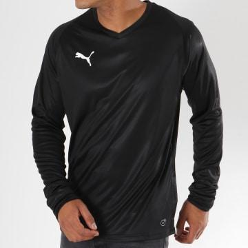 Puma - Tee Shirt Manches Longues LIGA Jersey 703621 03 Noir