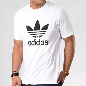 Adidas Originals - Tee Shirt Trefoil CW0710 Blanc Noir