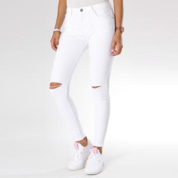 Jean Skinny Déchiré Femme JL121 Blanc