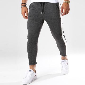 Pantalon Avec Bandes 1393 Gris Anthracite