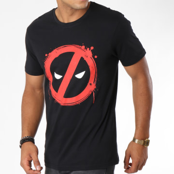 Deadpool - Tee Shirt Forbiden Splash Head Noir