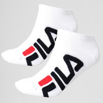Fila - Lot De 2 Paires De Chaussettes Calza F9199 Blanc