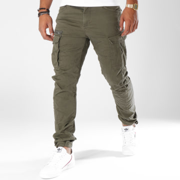 Jack And Jones - Pantalon Cargo Drake Chop Vert Kaki