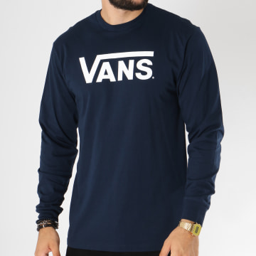 Vans - Tee Shirt Manches Longues Classic Bleu Marine