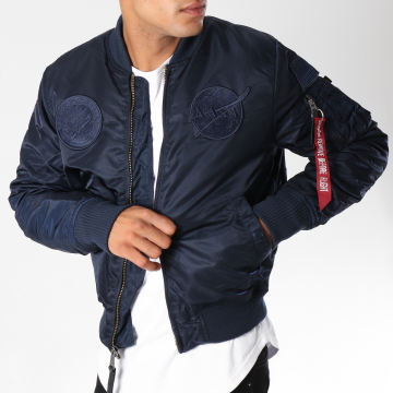 Alpha Industries - Bomber MA-1 VF Nasa Bleu Marine