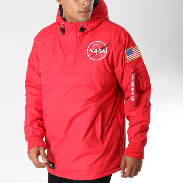 Alpha Industries - Veste Outdoor Avec Poche Bomber Nasa Rouge