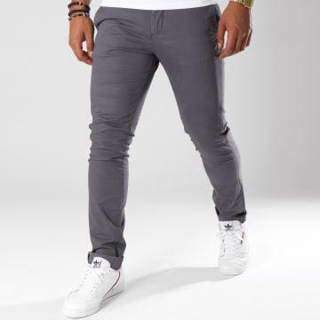 Celio - Pantalon Chino Moprime Gris Anthracite