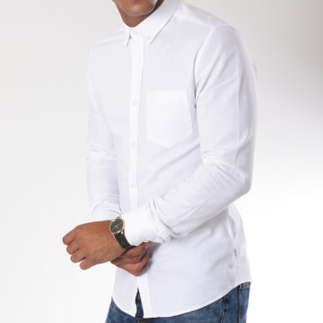 Only And Sons - Chemise Manches Longues Alvaro Blanc