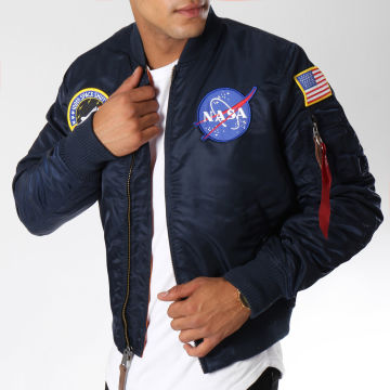 Alpha Industries - Bomber MA-1 VF Nasa Flight Jacket Bleu Marine