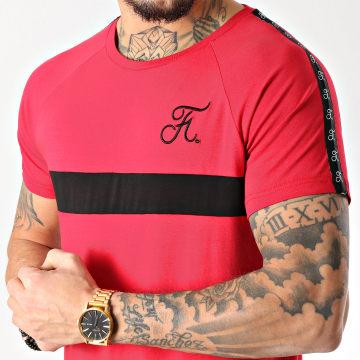Tee Shirt Premium Fit Avec Bande Et Broderie 085 Rouge