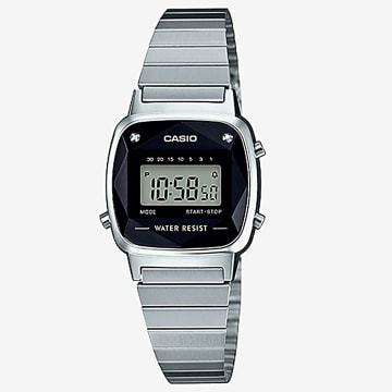 Casio - Montre Femme Collection LA670WEAD-1EF Argenté Noir
