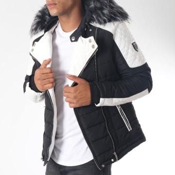 Doudoune Fourrure 79620 Noir Blanc