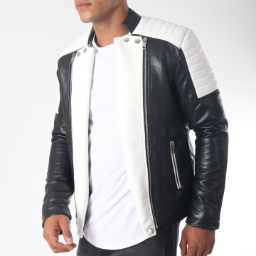 Veste Biker 79618 Noir Blanc