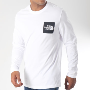 Tee Shirt Manches Longues Fine Blanc Noir