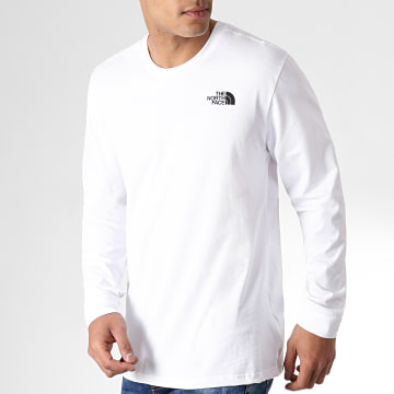 Tee Shirt Manches Longues Simple Dome Blanc Noir