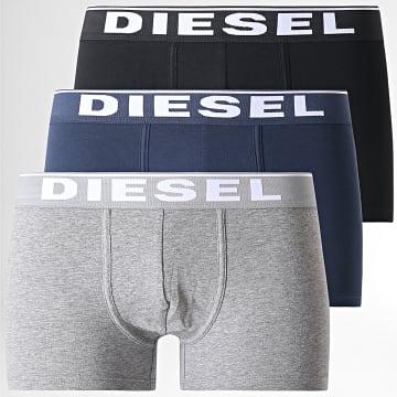 Diesel - Lot de 3 Boxers Damien 00ST3V 0JKKB Noir Bleu Marine Gris Chiné