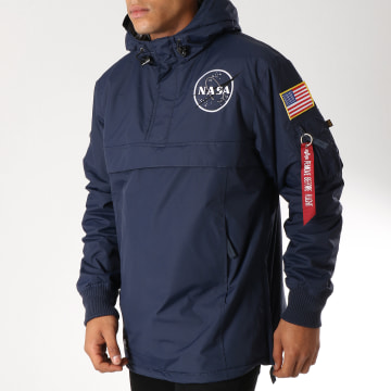 Alpha Industries - Veste Outdoor Avec Poche Bomber Nasa Bleu Marine