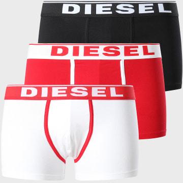 Diesel - Lot De 3 Boxers Damien 00ST3V-0JKKC Noir Rouge Blanc
