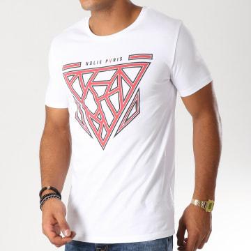 Dabs - Tee Shirt Mesh Blanc Rouge