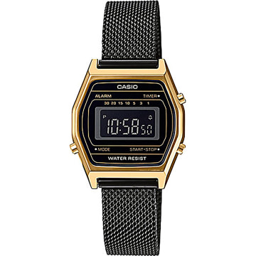 Casio - Montre Collection LA690WEMB-1BEF Noir Doré