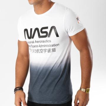 NASA - Tee Shirt Admin Blanc Dégradé Noir