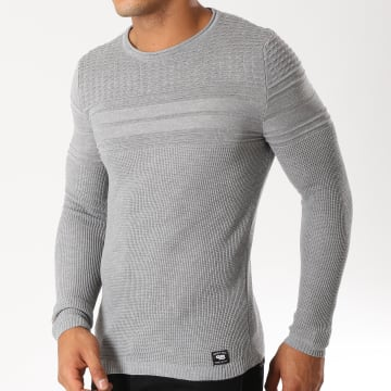 Paname Brothers - Pull 107 Gris Chiné