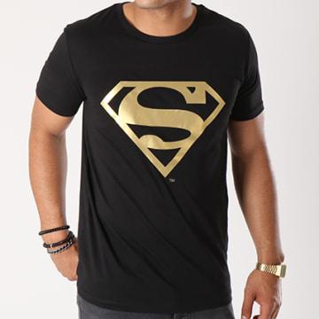 DC Comics - Tee Shirt Gold Logo Noir