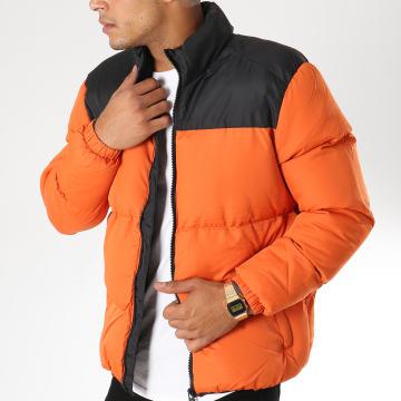 Doudoune Daviscon Orange Noir