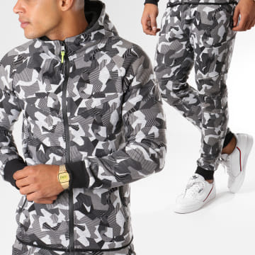 Zayne Paris  - Ensemble De Survetement BL18 Gris Chiné Gris Anthracite Camouflage