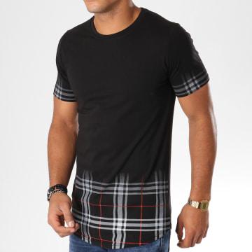 Tee Shirt Oversize JAK-074 Noir Rouge Gris