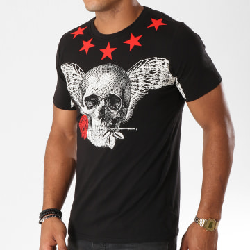 Tee Shirt JAK-079 Noir Rouge