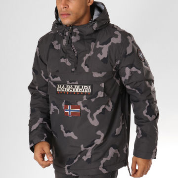 Napapijri - Veste Outdoor Rainforest Gris Anthracite Camouflage